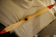 Vintage Wooden Propeller With Red Tips 47