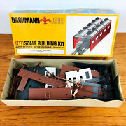 Vintage Bachmann 3001 Ho Double-stall Engine House Shed Kit Open Box