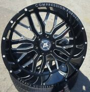 4new 22x12 Axe Compression Forged 1.0 Black Milled Wheels 6x5.5 6x135 Chevy Ford