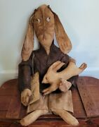 Extreme Primitive Rabbit And Bunny Easter Spring Farmhouse Handmade