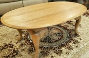 Broyhill Furniture Oak Hill Collection 46 Oval Accent Coffee Table Antique Rare