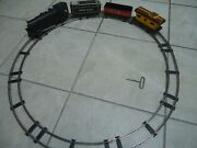 Vintage 1950and039s Marx O Scale Tin Train Set-union Pacific-key Wind Up-caboose-rare