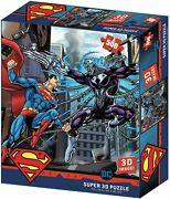 Superman Vs Electro Dc 500 Piece Prime 3d Jigsaw Puzzle 24x18 Inch New Sealed