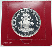 1976 The Bahamas Islands Two Flamingos Vintage Proof Silver 2 Dollar Coin I86912