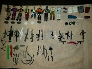 Vintage 1980's Gi Joe Action Figures Large Lot. Figures, And Accessories