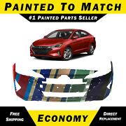 New Painted To Match Front Bumper Cover For 2019 2020 Hyundai Elantra Sedan Usa