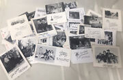 Vintage Lot Of 50 Bandw 1950andrsquos Real Photo Postcard Xmas Christmas Cards