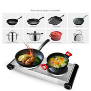 Kitchen Electric Double Burner Hot Plate Portable Cooking Stove Cast Iron Heater