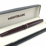 Mont Blanc Ballpoint Pen Wine-red Used Good With Case From Japan F/s