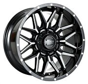 4 Impact Offroad 819 22x12 Gloss Black Milled Wheels 6x139.7 Chevy 6x135 Ford