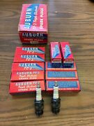 Nos Auburn Tc-3 Spark Plugs 187-tf For Ford Models Triple Electrode 10 W/ Box