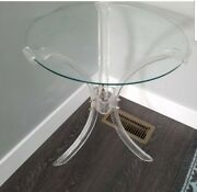 Vintage Midcentury Acrylic Lucite Hollywood Regency End Table Rare