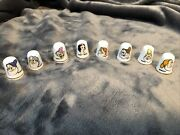 Snow White And The Seven Dwarfs Bone China Thimble Set New In Cases
