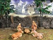 Fontanini Holy Family Set With Ox And Donkey 5 Scale
