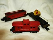 American Flyer Trains Lot Of 3 Cars 716 42597 936 For Restoration