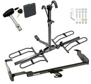 Trailer Tow Hitch For 00-07 Focus Wagon Platform Style 2 Bike Rack W/ Lock Cover