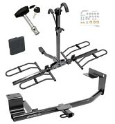 Trailer Tow Hitch For 15-18 Vw Jetta Platform 2 Bike Rack W/ Hitch Lock And Cover