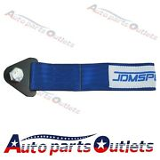 Tow Strap Jdm 10,000 Lb Rating Blue Color Universal Racing Competition