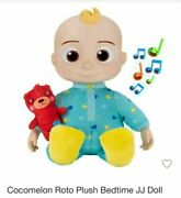 Cocomelon Doll Plush Roto Jj Bedtime Soft 10 Sing Toy Youtube Brand New