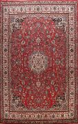 Vintage Traditional Floral Hand-knotted Area Rug Wool Oriental Red Carpet 10x13