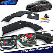 For Honda Civic 10th Gen 2016-2019 18 Engine Bay Side Panel Covers Long Version