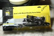 Ag-chem Semi With Black Beauty Terra Gator Ertl 1/64 Scale In Package Signed
