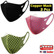 【 3 Pack 】 Sw Copper Infused Fabric Face Mask Washable Resuable Fashionable