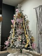 Christmas Tree With Handcrafted Decorations And Prehung Led Lights