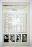 1900 The Boer War The Death Roll Of Honour Officers Named Who Lost Their Lives