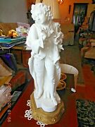 2 Marble French Aristocrat Looks Table Lamps 18 Inch H Impeccable Condition