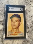 1957 Topps Sgc 4 Jim Bunning 338 Hof Rookie Super Looking Card For The Grade