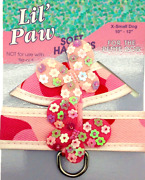 New Lil Paw Dog Pet Soft Stap Harness Puppy Pink Butterfly X Small Girth 10-12
