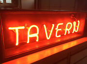 30 Red Neon Tavern Sign Custom Made Perfect For Man Cave Or Bar Or Tavern