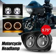 5.75 Inch Motorcycle Projector Dual Led Headlight For Harley Davidson Road Glide