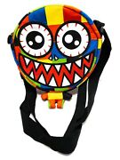 Weird Patchwork Red Eyed Cartoon Voodoo Doll Over The Shoulder Multi-color Purse