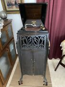 Antique Sonora Phonograph Early 1900's W/records Needs Work