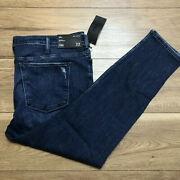 Silver Jeans Women's Plus Most Wanted Mid Rise Skinny Fit Jeans 22 X 29
