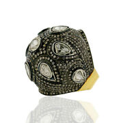 6.11ct Diamond Dome Ring 14kt Solid Gold Sterling Silver Jewelry