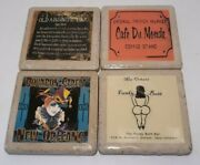 Lot Of 4 Stone Creations Coaster New Orleans Funky Butt And Absinthe Bar 4x4