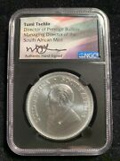 2018andnbspngc Ms69 S. Africa 1oz Silver 1 Of First 1000 Struck Signed Tumi Teshlo