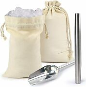 Ice Mallet And Ice Bag Stainless Steel Hammer For Crushed Ice Bartender Kit Bar