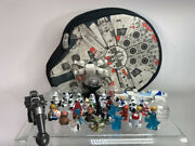 Star Wars Fighter Micro Figure And Pod Lot And Lego Star Wars Falcon Case 2012