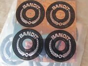 Nos 1970and039s 80and039s Bandit Wheels Center Cap Inserts New Chrome Foil Sticker Set
