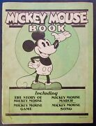 Mickey Mouse Book W/ Game And Pieces Walt Disney 1930 First Mickey Mouse In Print