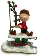 Danbury Mint Peanuts Christmas Train - Charlie Brown Replacement Piece Only 2002