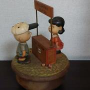 Peanuts Anri 1926 Italian Wood Snoopy Antique Lucy And Charlie Brown Music Japan