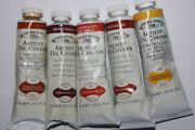 5 Winsor And Newton Oil Paint's-from England-37ml-series 1 And 4 Set