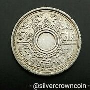 Thailand 1 Satang Be2485 / 1942. Y57. Tin One Cent Coin. Siam Rama Viii. 1 Year