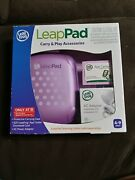 Leap Pad Carry Play Accessories Set Purple Case Ac Adapter Charger 20 App Card