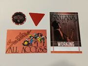 Santana -backstage Pass Collection Casino Chip And Guitar Pick